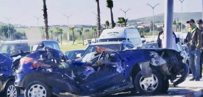 مصرع سائق في حادثة سير خطيرة بمدخل طنجة
