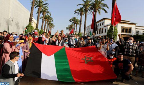 المغرب: وقفة تضامنية مع الشعب الفلسطيني