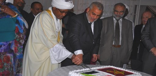 بحضور رئيس الحكومة بنكيران ، السفارة السودانية بالمغرب تحتفل بالعيد الوطني لبلادها