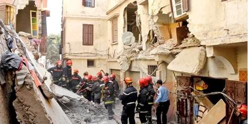 أربعة جرحى في انهيار منزل بالمدينة العتيقة(درب الانجليز) في البيضاء