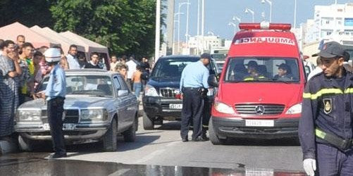 مصرع 3 أشخاص من اسرة واحدة في حادثة سير بمدينة طنجة