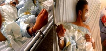 صورة الطالب بفاس وهو مكبل الأيدي داخل المستشفى تثير غضبا عارما !