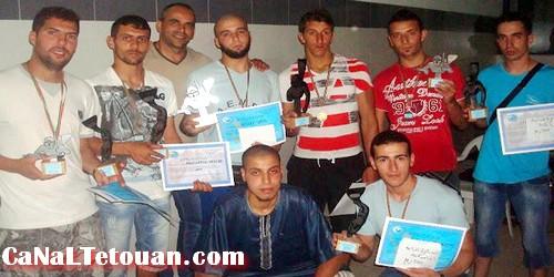 مسابقة في حبس النفس والرماية تحت الماء بمسبح جمعية حنان بتطوان