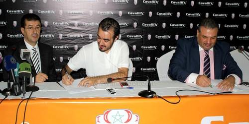 """حفل توقيع """"كافاليكس"""" الراعي الرسمي الجديد لفريق المغرب التطواني"""