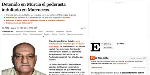 """صحيفة الباييس: اعتقال""""دانيال"""" بمنطقة مورسيا ومسؤولين مغربيين سيحلان غدا بإسبانيا"""