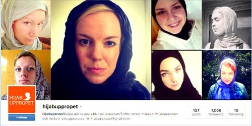 فتيات سويديات يرتدِين الحجاب تضامنا مع مسلمة تعرضت لتعنيف وظلم