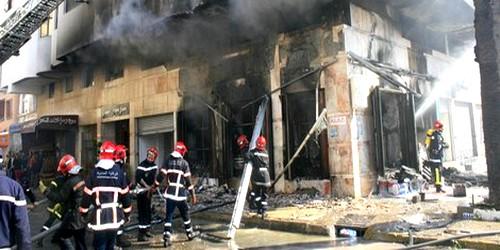 إندلاع حريق مهول بمؤسسة تعليمية بسطات