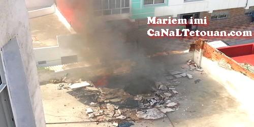 إنفجار قنينة غاز كبيرة تخلف هلعا كبيرا في ساكنة حي عين خباز بتطوان