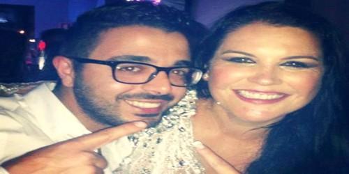 الفنان التطواني أحمد شوقي مع أخت كريستيانو في حفل كبير !