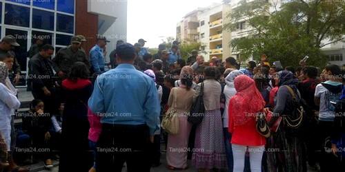 الأمن يطوق احتجاجا تلاميذيا أمام مقر نيابة التعليم بطنجة