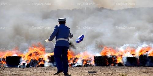 لجنة مختصة تشرف على حرق أطنان من المخدرات بمدينة طنجة