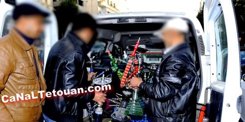 حجز وإتلاف 86 نرجيلة في حملة إستهدفت مقاهي الشيشة بمرتيل
