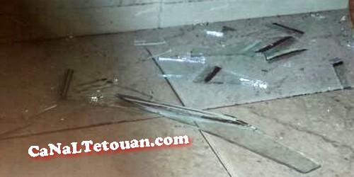 الرياح القوية تحطم زجاج نافدة بلدية تطوان وتخلق الرعب بالموظفين