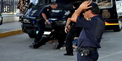 الحرس المدني الإسباني يغلق بوابة فرخانة في وجه المغاربة ويعنف مغربيا مقيما بالمدينة
