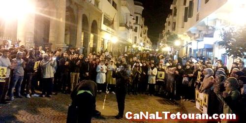بالصور…منظمة التجديد الطلابي بتطوان تخلد ذكرى ثلاث سنوات على الثورة المصرية