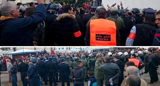 القوات العمومية تمنع بالقوة مسيرة الغضب ضد الغلاء بمرتيل