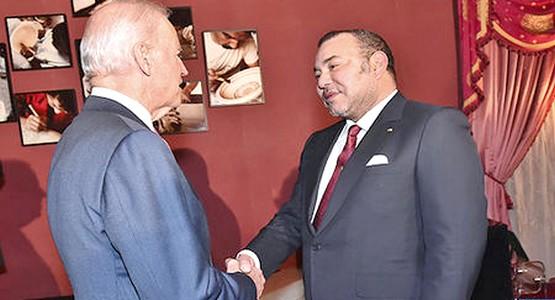 محمد السادس يستقبل نائب أوباما و الصحراء وداعش على طاولة المباحثات
