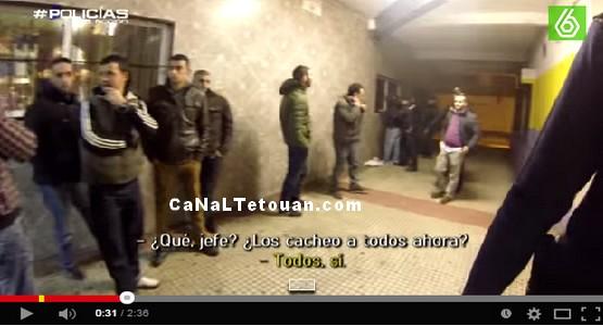 كارثة … شاهد عنصرية الاسبان ضد المغاربة !!! (فيديو)