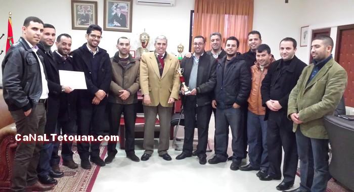 د عبد الوهاب بنعجيبة يهنئ فريق جمعية موظفي الأكاديمية لجهة طنجة تطوان