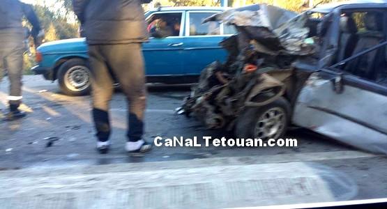 حادثة سير مروعة على طريق الملاليين بتطوان (+صور)