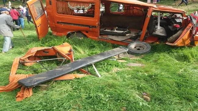 الحصيلة الأولية لحادث مميت بعد سقوط سيارة كبيرة من منحدر ضواحي وزان