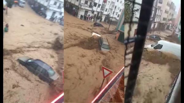شباب في تطوان ينقذون طفلا ووالدته جرفتهما السيول (فيديو)