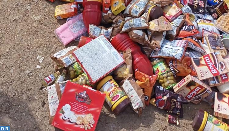 حجز وإتلاف مواد غذائية غير صالحة للاستهلاك بعمالة المضيق-الفنيدق