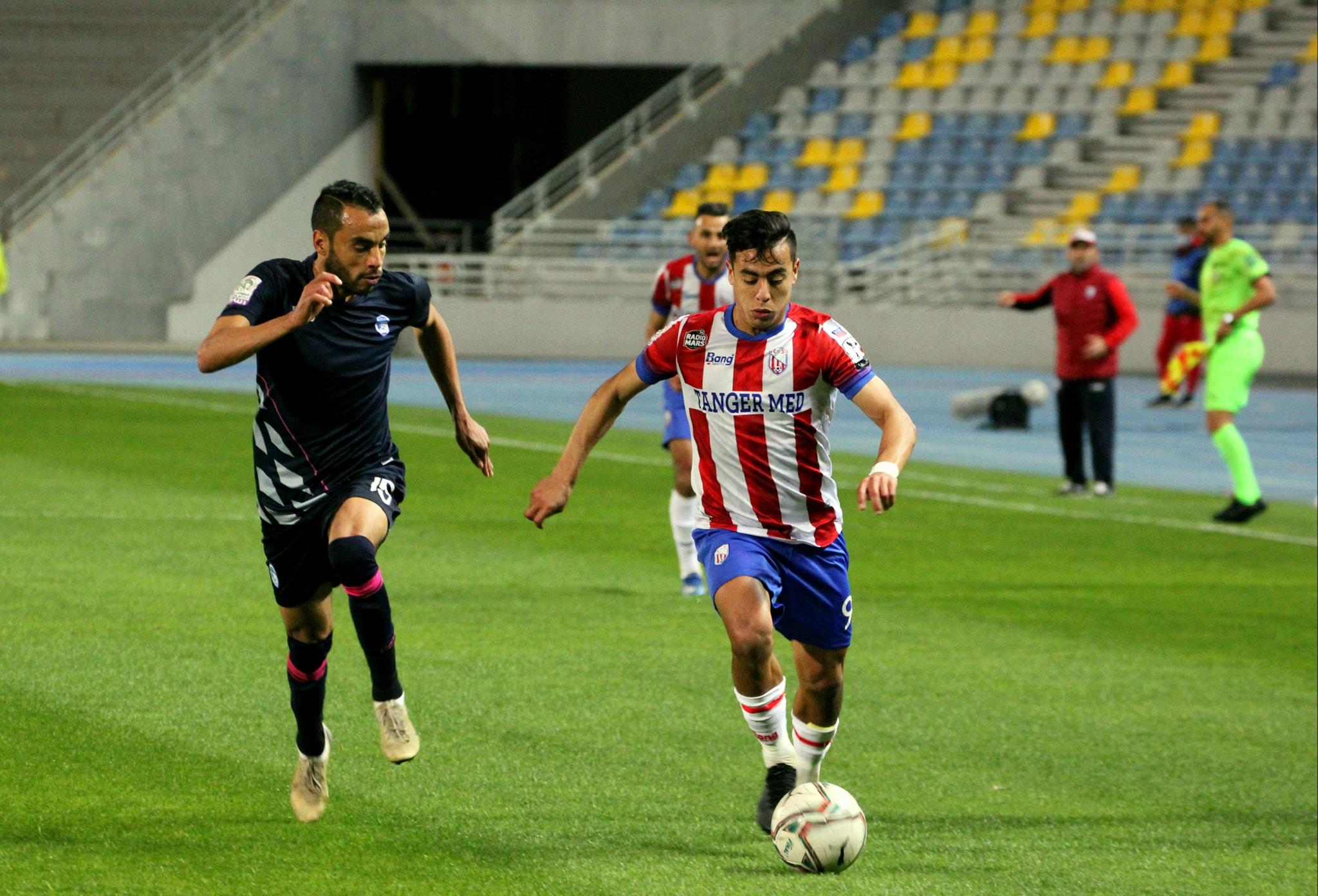 المغرب التطواني يتعادل مع ضيفه السريع واد زم (1-1)