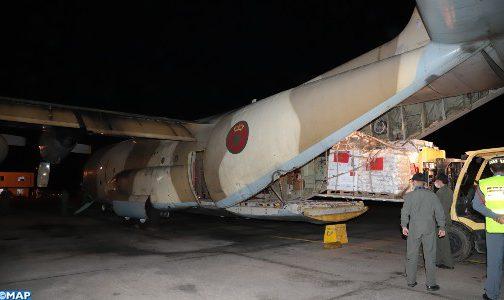 المساعدات الإنسانية لفائدة الفلسطينيين: مغادرة ثاني طائرة عسكرية في اتجاه العاصمة الأردنية